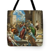 Christ Cleansing The Temple Tote Bag