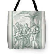 Christ Consigning The Keys To Saint Peter Tote Bag