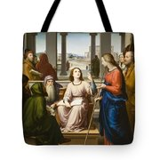 Christ Disputing With The Doctors In The Temple Tote Bag
