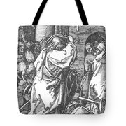 Christ Driving The Merchants From The Temple 1511 Tote Bag