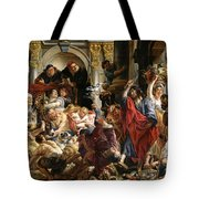 Christ Driving The Merchants From The Temple Tote Bag