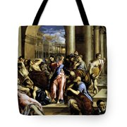 Christ Driving The Traders From The Temple 1576 Tote Bag