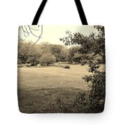 Christ In The Field Sepia Tote Bag