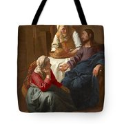 Christ In The House Of Martha And Mary Tote Bag
