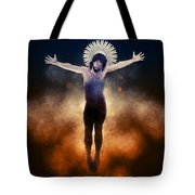 Christ Of The Cosmos Tote Bag