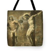 Christ On The Cross And The Good Thief Tote Bag