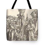 Christ On The Cross Between The Virgin And Saint John Tote Bag