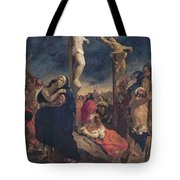 Christ On The Cross Tote Bag by Delacroix