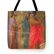 Christ On The Road To Emmaus Fragment 1311 Tote Bag