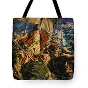 Christ On The Sea Of Galilee Tote Bag by Jack Hayes