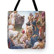 Christ Preaching From The Boat Tote Bag