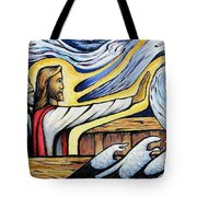 Christ Rebukes The Wind And Waves Tote Bag