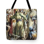 Christ Removing The Money Lenders From The Temple Tote Bag