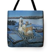 Christ Risen Church In Ples, Ivanovo Region Tote Bag