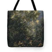 Christ Served By The Angels Tote Bag