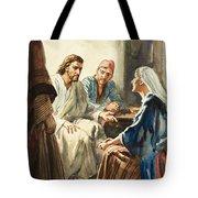 Christ Talking Tote Bag