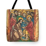 Christ Washing The Feet Of The Apostles Tote Bag