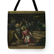 Christ Washing The Feet Of The Disciples Tote Bag