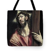 Christ With The Cross Tote Bag