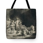 Christ With The Sick Around Him, Receiving Little Children Tote Bag