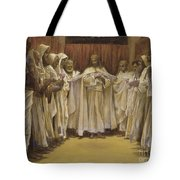 Christ With The Twelve Apostles Tote Bag