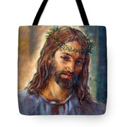 Christ With Thorns Tote Bag