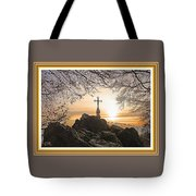 Christellerata L A S With Decorative Ornate Printed Frame. Tote Bag