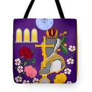 Christian Knights Of The Cross And Rose Tote Bag