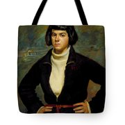 Christian Viasto - A Canal Boat Woman Tote Bag