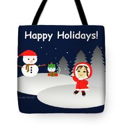 Christmas #6 And Text Tote Bag