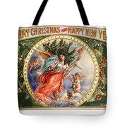 Christmas Angel Label Tote Bag