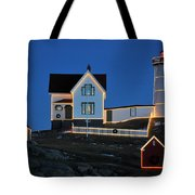 Christmas At The Nubble  Tote Bag