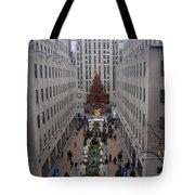 Christmas At The Rock Tote Bag