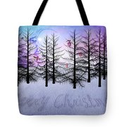 Christmas Bare Trees Tote Bag
