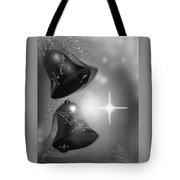 Christmas Bells In Black And White Tote Bag