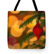 Christmas Bokeh Tote Bag