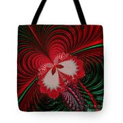 Christmas Butterfly Fractal 63 Tote Bag