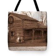 Christmas Cabin Tote Bag