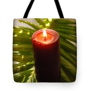 Christmas Candle 2 Tote Bag