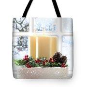 Christmas Candles Display Tote Bag