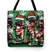 Christmas Candy Peppers Gang Tote Bag