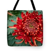 Christmas Chrysanthemum Tote Bag