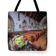 Christmas Church Flowers Tote Bag
