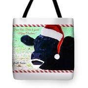 Christmas Cow Greeting Tote Bag