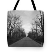 Christmas Day Country Road Tote Bag
