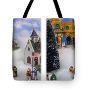 Christmas Display - Gently Cross Your Eyes And Focus On The Middle Image Tote Bag