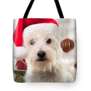 Christmas Elf Dog Tote Bag