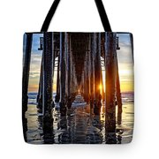 Christmas Eve At The Pier Tote Bag