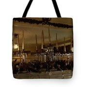 Christmas Eve In Brown And Gold  Tote Bag