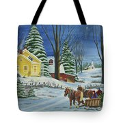 Christmas Eve In The Country Tote Bag